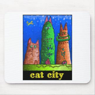 cat city mouse pad