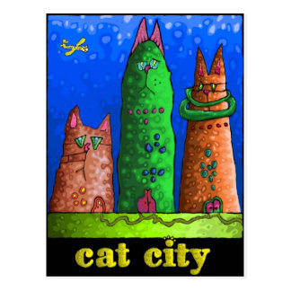 cat city postcard