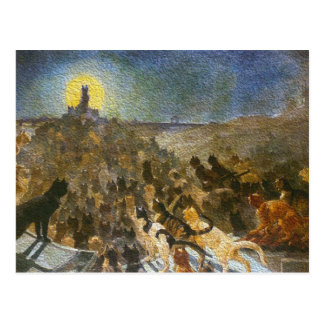 Cat City Postcard! Théophile Steinlen Vintage Art Postcard