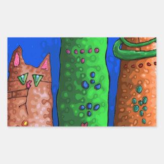 cat city rectangular sticker