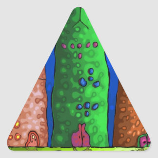 cat city triangle sticker