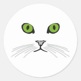 cat classic round sticker