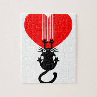 Cat Claw Heart Jigsaw Puzzle