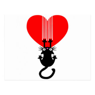 Cat Claw Heart Postcard