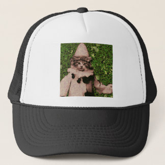 Cat clown trucker hat