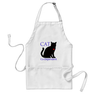 Cat Co-Dependent Adult Apron