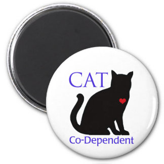 Cat Co-Dependent 2 Inch Round Magnet