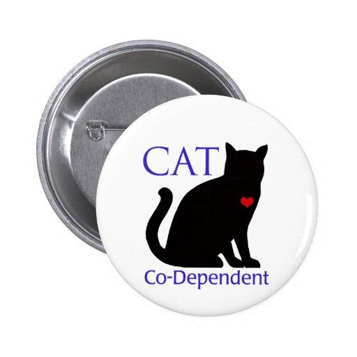 Cat Co-Dependent Pinback Button