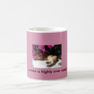 Cat coffee cup...awake is highly over rated coffee mug
