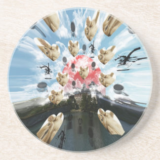 Cat coffee Imabari compilation 3 Drink Coaster