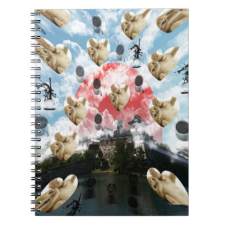 Cat coffee Imabari compilation 4 Spiral Notebook