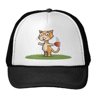 Cat Coffee Trucker Hat