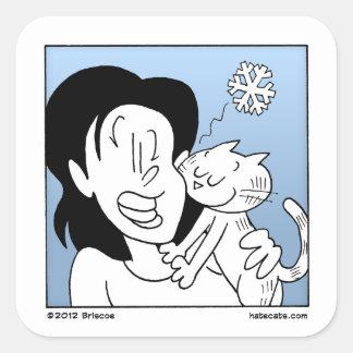 Cat Cold Nose Square Sticker