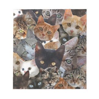 Cat Collage Notepad