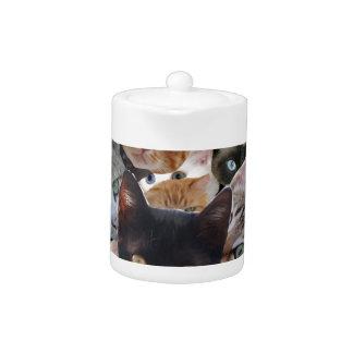 Cat Collage Teapot