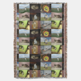 Cat Collage Throw Blanket
