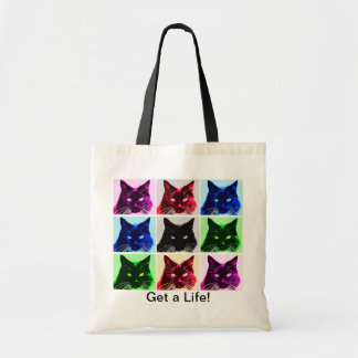 Cat Collage Tiny Tote Canvas Bag