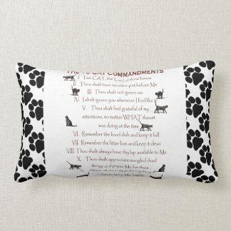 Cat Commandments Throw Pillow