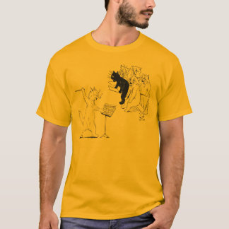 Cat Conducting Chorus Vintage Louis Wain T-Shirt