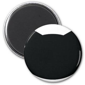 cat contour icon 2 inch round magnet