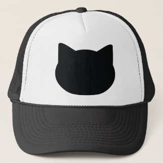 cat contour icon trucker hat
