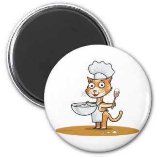 Cat Cook Refrigerator Magnets