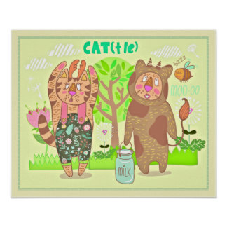 Cat Costumes Nursery Print