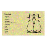 CAT COUPLES Double-Sided STANDARD BUSINESS CARDS (Pack OF 100)