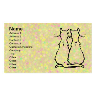 CAT COUPLES BUSINESS CARD
