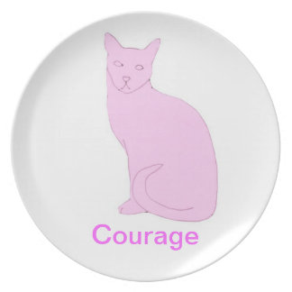 Cat Courage Cancer Awareness Plate