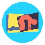 Cat Cow Pose Yoga Classic Round Sticker