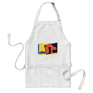 Cat Cow Pose Yoga Gift Adult Apron