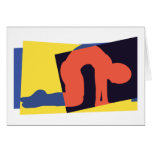 Cat Cow Pose Yoga Gift Greeting Card