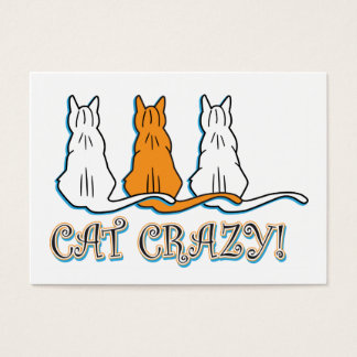 Cat Crazy Orange Tabby Cats Business Card