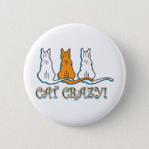 Cat Crazy Orange Tabby Cats Button