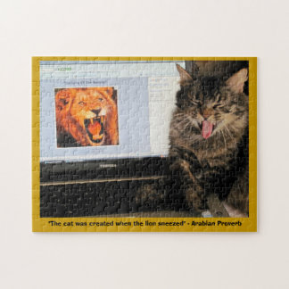 Cat Created When The Lion Sneezed Jigsaw Puzzle