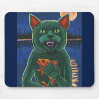 Cat Creature from the Black Lagoon Mouse Pad