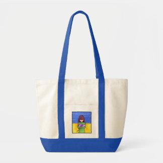 Cat Cuddle blue Bag