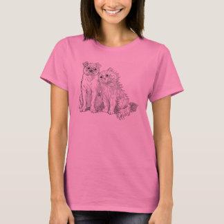 Cat Cuddles Up to Dog T-Shirt