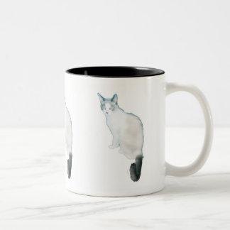 Cat Cup Two-Tone Coffee Mug