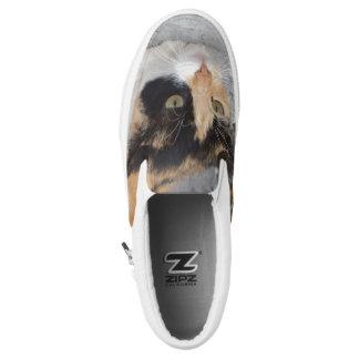 Cat Custom Zipz Slip On Shoes,  Men & Women