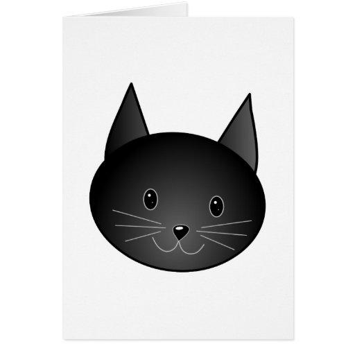 Cat. Cute black kitty. Card