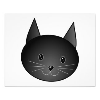 Cat. Cute black kitty. Flyer