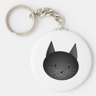 Cat Cute black kitty Keychains