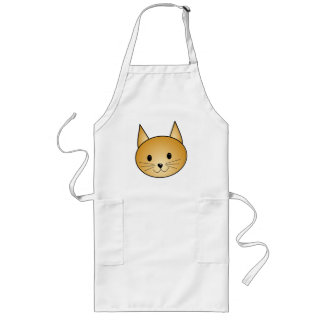 Cat. Cute ginger kitty. Long Apron
