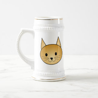 Cat. Cute ginger kitty. Beer Stein