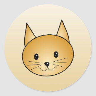 Cat. Cute ginger kitty. Classic Round Sticker