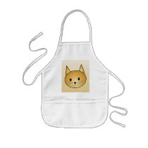 Cat. Cute ginger kitty. Kids' Apron