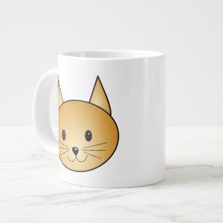 Cat. Cute ginger kitty. Large Coffee Mug