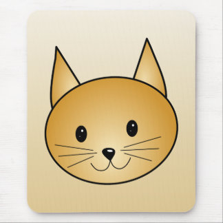 Cat. Cute ginger kitty. Mouse Pads